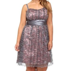 Nwot torrid gray lace party dress 18 plus formal